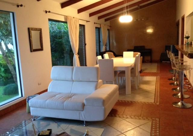 One level home in condominium, 24/7 security near Country Club, Escazu