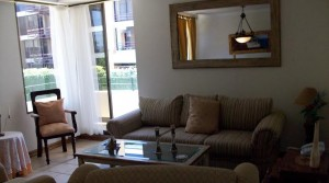 Furnished apartment in condominium with heated swimming pool