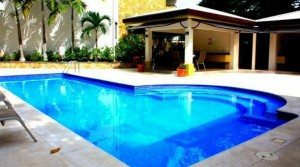 Furnished apartment with pool, gym, sauna in Santa Ana Centro