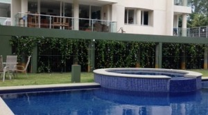 Apartment in high raise building with pool