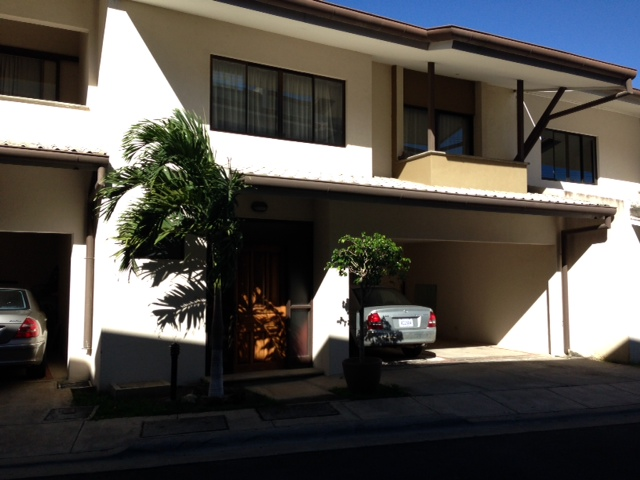 Home with deck in condominium, security