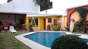 Two story home with garden, pool, guest apartment