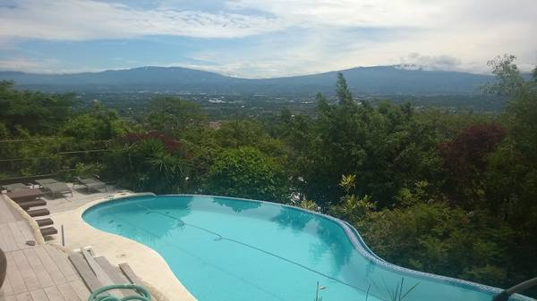 One level, independent home with private pool, views