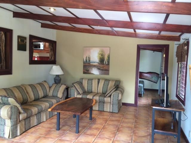 Furnished house with swimming pool in common area, views, security