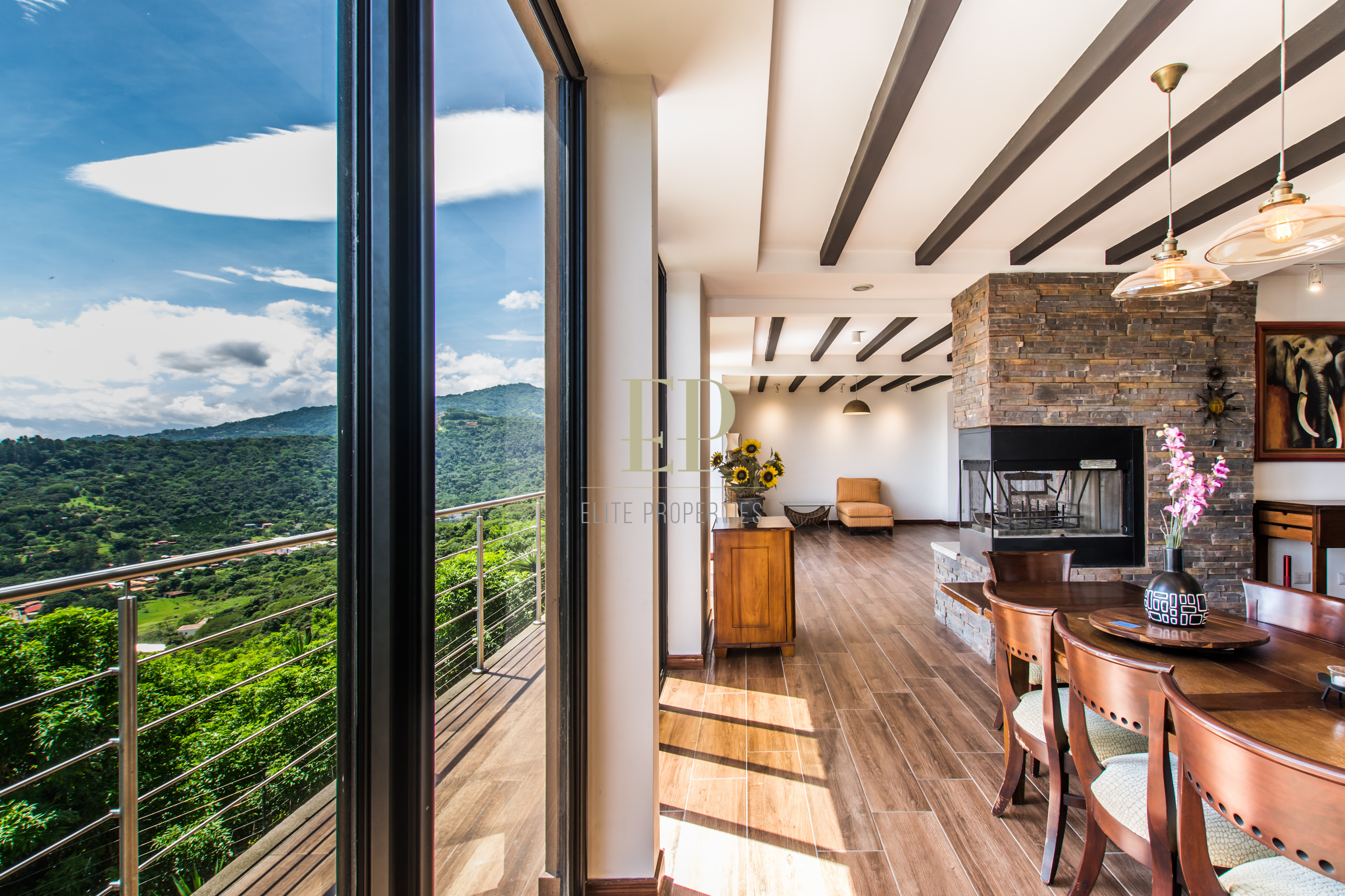 Luxury home in residential with breathtaking panoramic view of the central valley