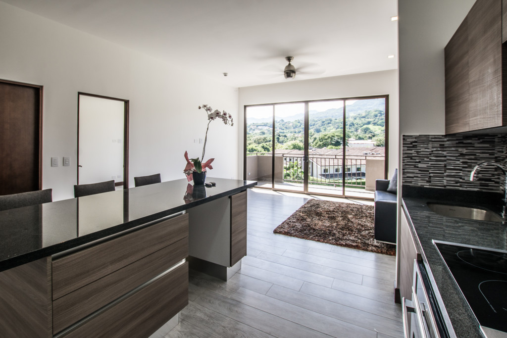 New, contemporary apartment with very nice common area.