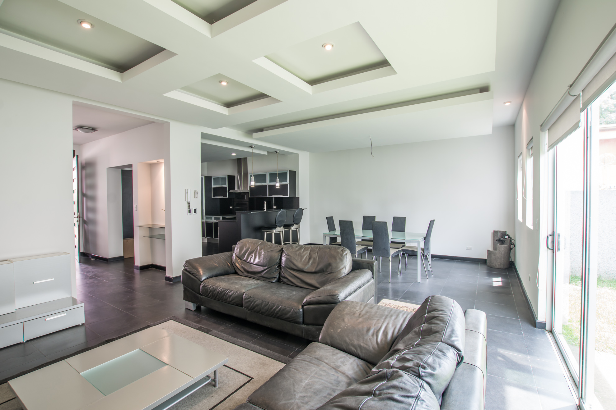 Modern home loft style in small condominium with 24/7 security.