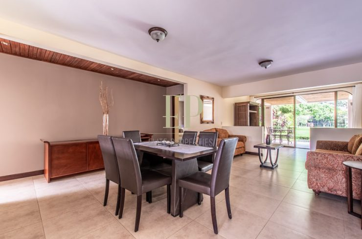 Furnished apartment with terrace, pool in common area
