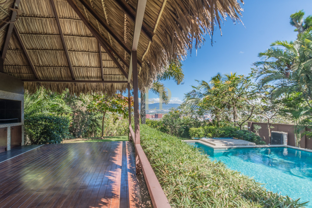 Luxury modern home with private pool in escazu