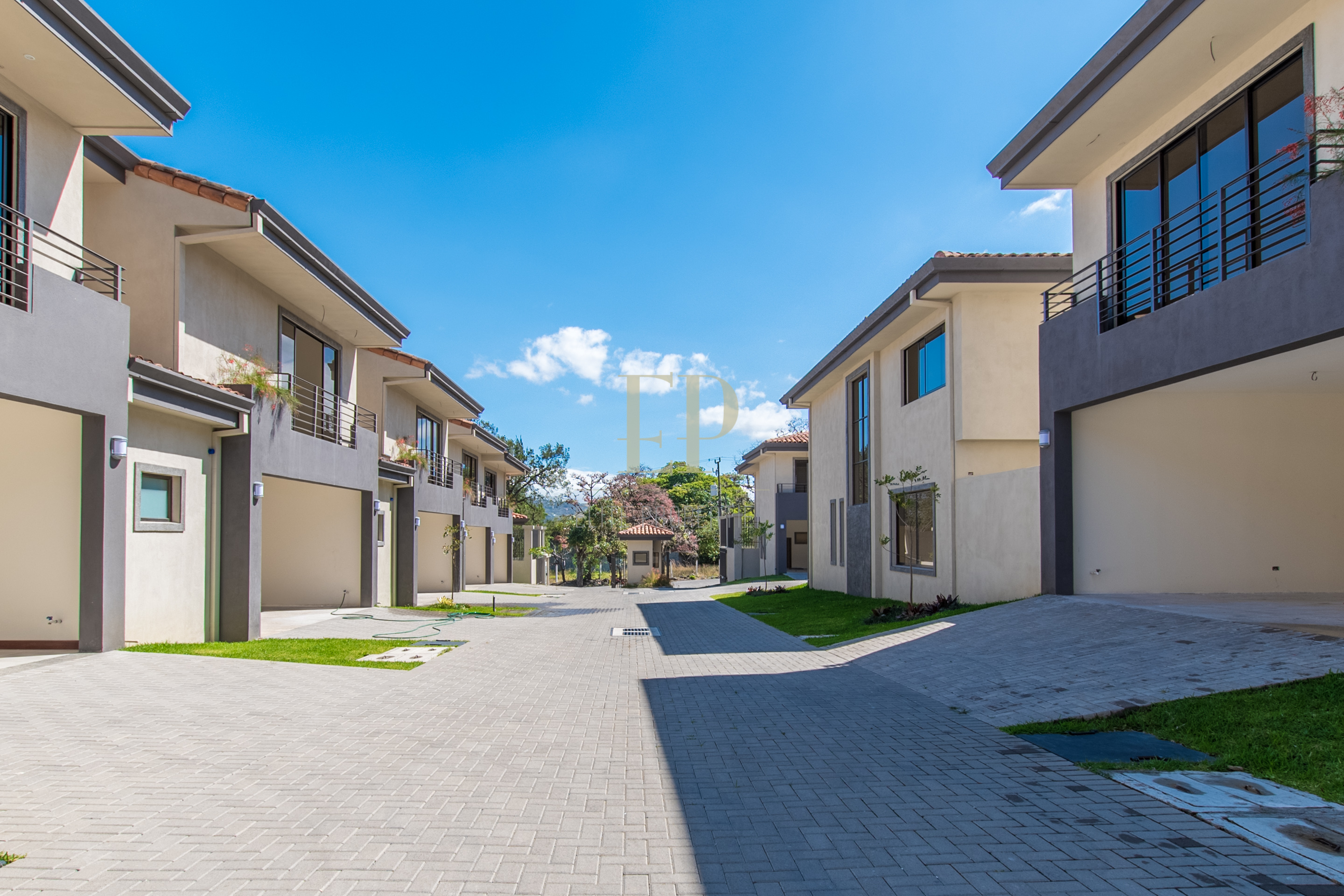 New two story houses in condominium located in Piedades