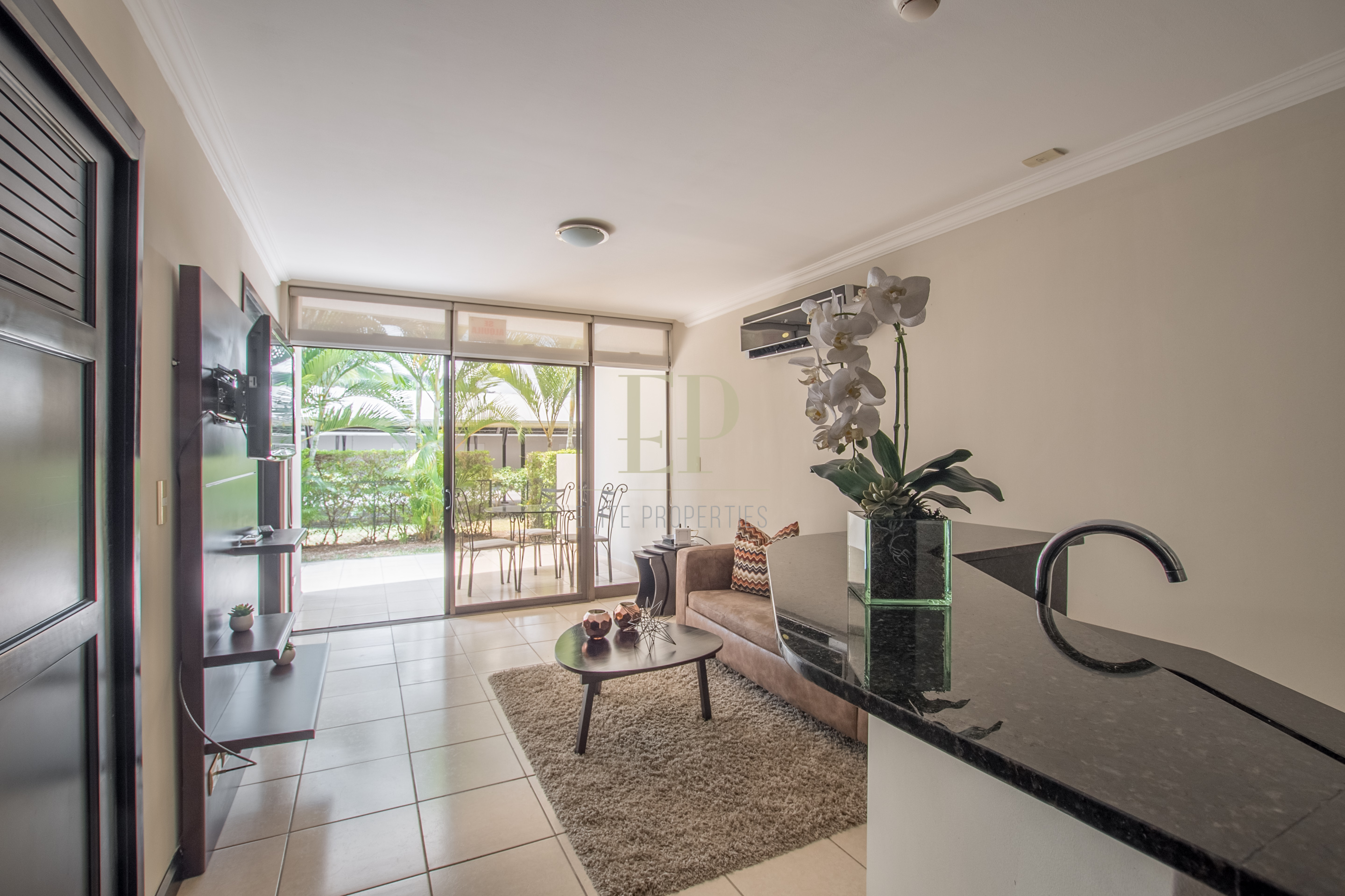 First floor apartment with patio, pool, tennis and more