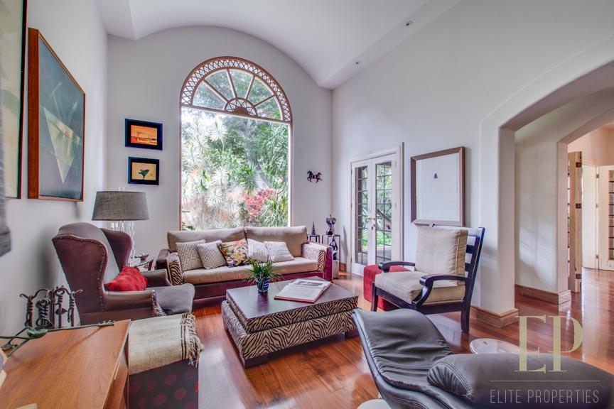 Mediterranean style home with contemporary accents in Escazu near La Paco