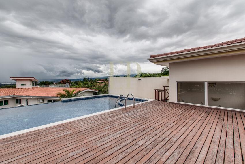 home with private pool in condominium Escazu Guachipelin